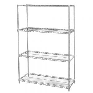 4 Tiers Wire Shelving